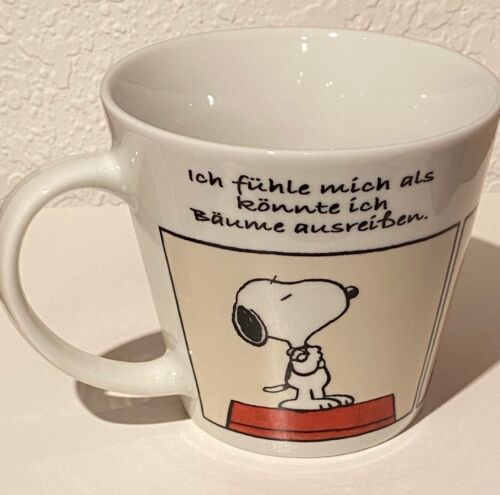 SNOOPY CERAMIC MUG in GERMAN
