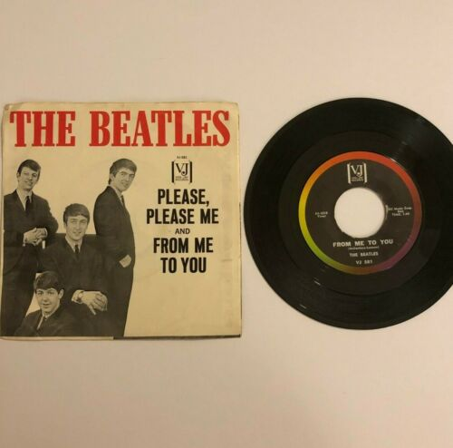 The Beatles Please Please Me / From Me to You Vee Jay VJ581 1963 w/PS