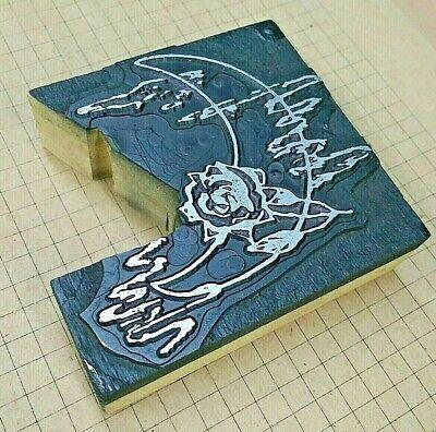 Rose In Moonlight Letterpress Printer Block Kelsey Printing Press
