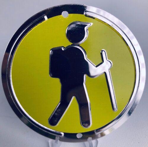Trailite Hiker Hiking Trail Markers Yellow Non-Reflective Aluminum Medallion