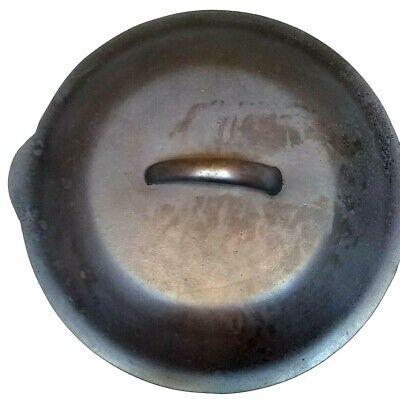 Vintage Cast Iron Dutch Oven Lid Basting & Fry Pan Lid