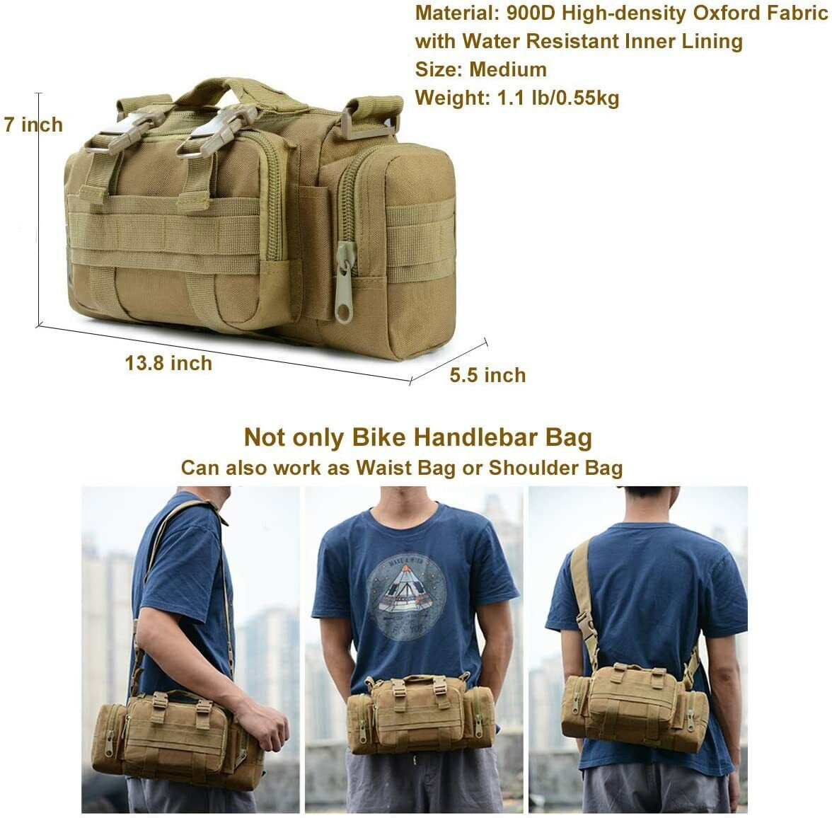 Tactical Waist Pack Deployment Bag Military Molle Waterproof Fanny Pouch US Bags
