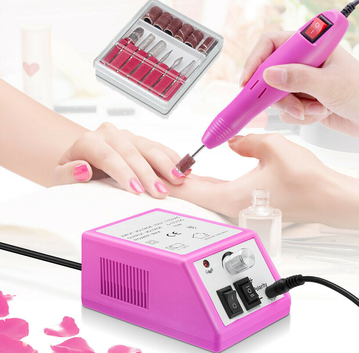 Electric Nail File Drill Manicure Machine Art Acrylic Pedicure Tool Set Kit Bits Electric Files & Tools