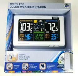 La Crosse 308-1414W Wireless Atomic Digital Color Forecast Station w/ Alerts