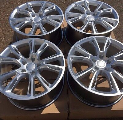 """SET OF FOUR 20"""" x10"""" WHEELS RIMS FOR JEEP GRAND CHEROKEE HYPER SILVER NEW"""