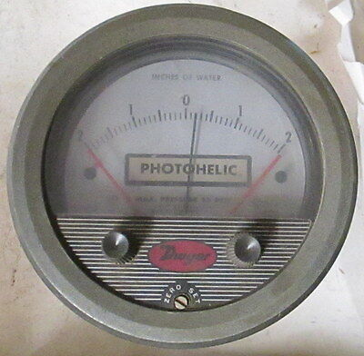 Dwyer Photohelic Pressure Switchgage -2 To 2 Inches Of Water