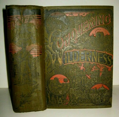 RARE ❤️ OLD WEST PIONEER FRONTIER_BOONE_CROCKETT_KIT CARSON_INDIANS ATTACKS_$350