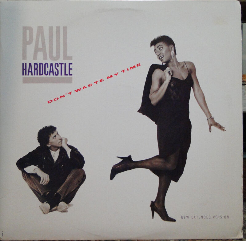 "Paul Hardcastle - Don't Waste My Time b/w Moonhopper. 12""; 1986 1st US Issue"
