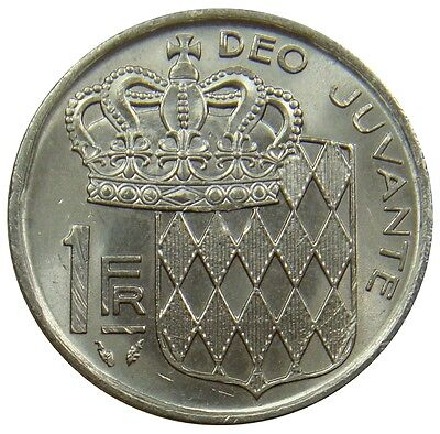 (E89) - Monaco - 1 Franc - 1976 - Rainier III - AU - N - KM# 140