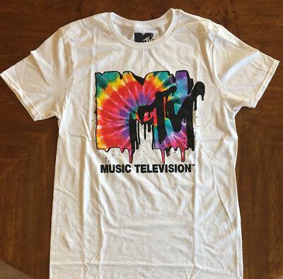 MTV T-shirt Rock Vintage style Original classic Tie Dye Graphic 80's (80s Rock Style)