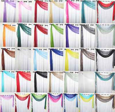 1PC VALANCE SCARF SWAG VOILE SHEER ELEGANT CURTAIN WINDOW DRESSING 35