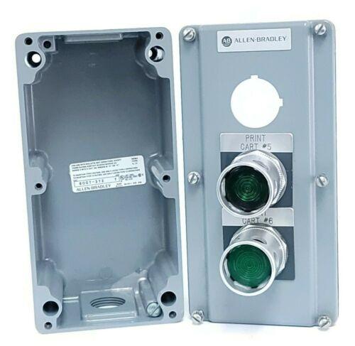 Allen Bradley 800t-3tz Enclosure 800t3tz Ser. T  W/ (2) 800t-qa24 Buttons