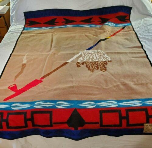 """Vintage Pendleton Sacred Pipe 54"""" x 72"""" Wool Blanket"""