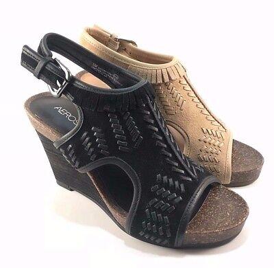 (Aerosoles Waterfront Suede Leather Wedge Sandals Choose Sz/Color)