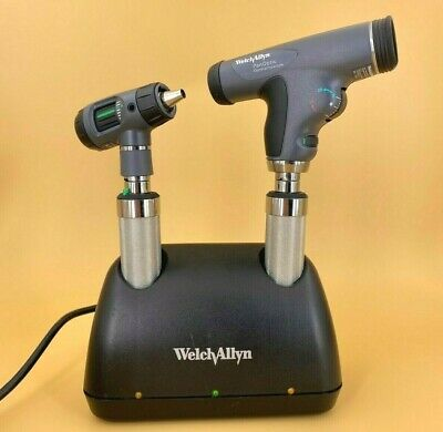 Welch Allyn Desk Charger With A Macroview Otoscope And Panoptic Ophthalmoscope