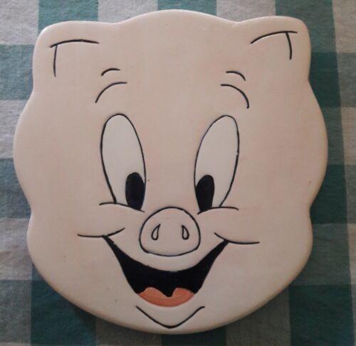 Warner Bros. 1995 Ceramic Porky Pig Trivet RARE!