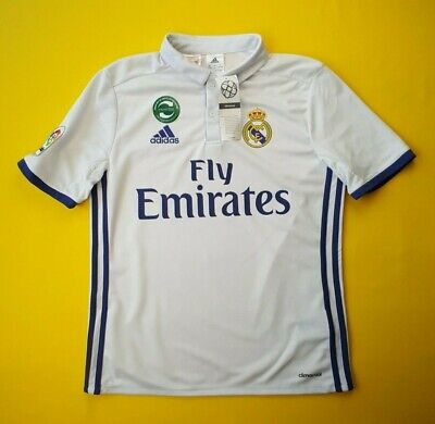 afead38c485 5+ 5 Real Madrid kids jersey 13-14 years 2016 2017 home shirt soccer Adidas  ig93