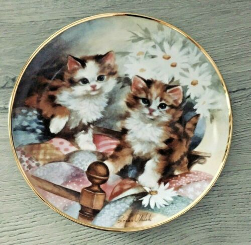 KITTEN COUNTRY Limited Edition FRANKLIN MINT PLATE Cat Brian Walsh W/Certificate
