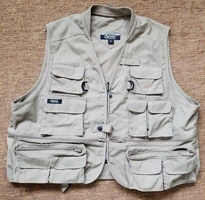 5303d7eee01ce EUC Gander Mountain Guide Series Mens Vest Size XL Hunting Fishing Outdoor  TAN