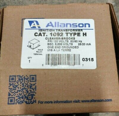 New Allanson 1092 Type H Transformer Cleaver Brooks 120v6000v 2520ma