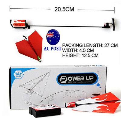 Power Up original Electric RC Remote Control Paper Airplane Glider toy drive MN