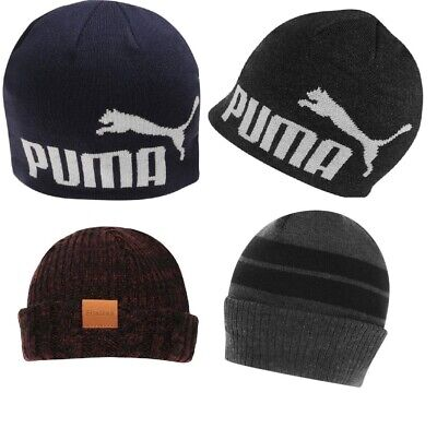 NEW MENS Puma, Lonsdale Turn Up Beanie Hat Pull-Down Winter Elasticated Hat BNWT