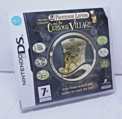 Nintendo D S Professor Layton and the Curious Village 130 Puzzles Brain Teasers