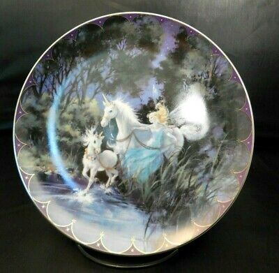 The Bradford Exchange Fairyland Plate Twilight Trio NEW MINT COA BOX