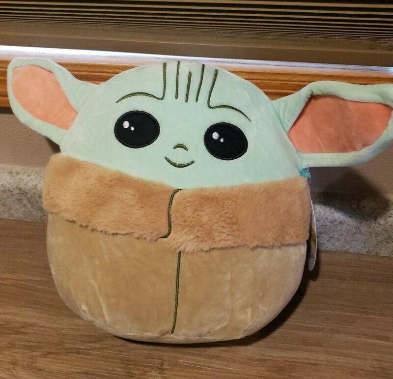 "Rare New Star Wars The Mandalorian The Child Baby Yoda 10"" Squishmallow Plush"