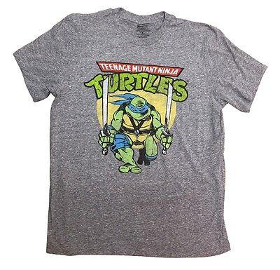 Teenage Mutant Ninja Turtles Leonardo Battle Pose Licensed Adult T - Adult Ninja Turtles