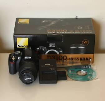Nikon D3100 DSLR With Nikon 18-55 VR Lens