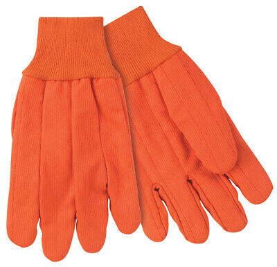 12 Pairs Mcr Safety Corded Double Palm Work Gloves - Large