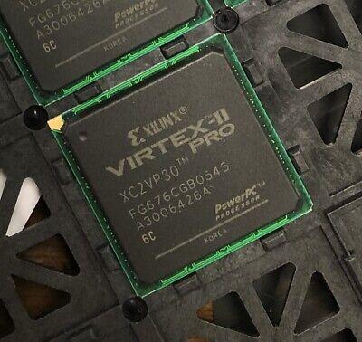 Xilinx Xc2vp30-6fg676c Ic Fpga 416 Io 676fbga New