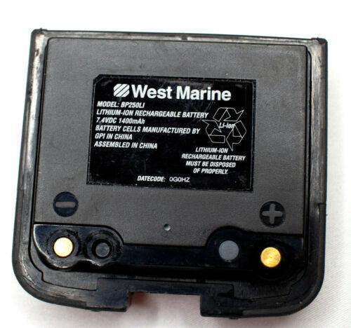 West Marine BP250LI Battery VFH250 Handheld Marine Radio Pre-Owned and Charged
