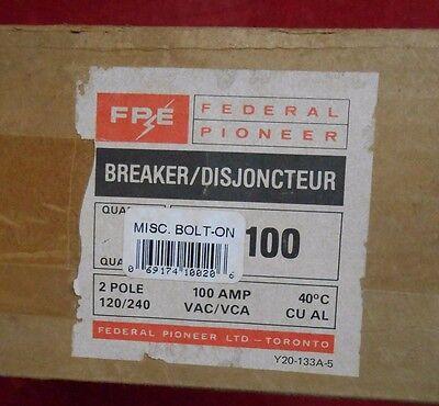Fpe 2b100 Main Circuit Breaker 100amp 2-pole 120240v - New In Box