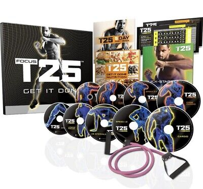 Insane Fitness T25 Workout USB Home HIIT Tabata 90 Day Plan MP4