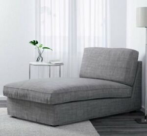COVER ONLY for the Ikea Kivic Chaise - Isunda Grey