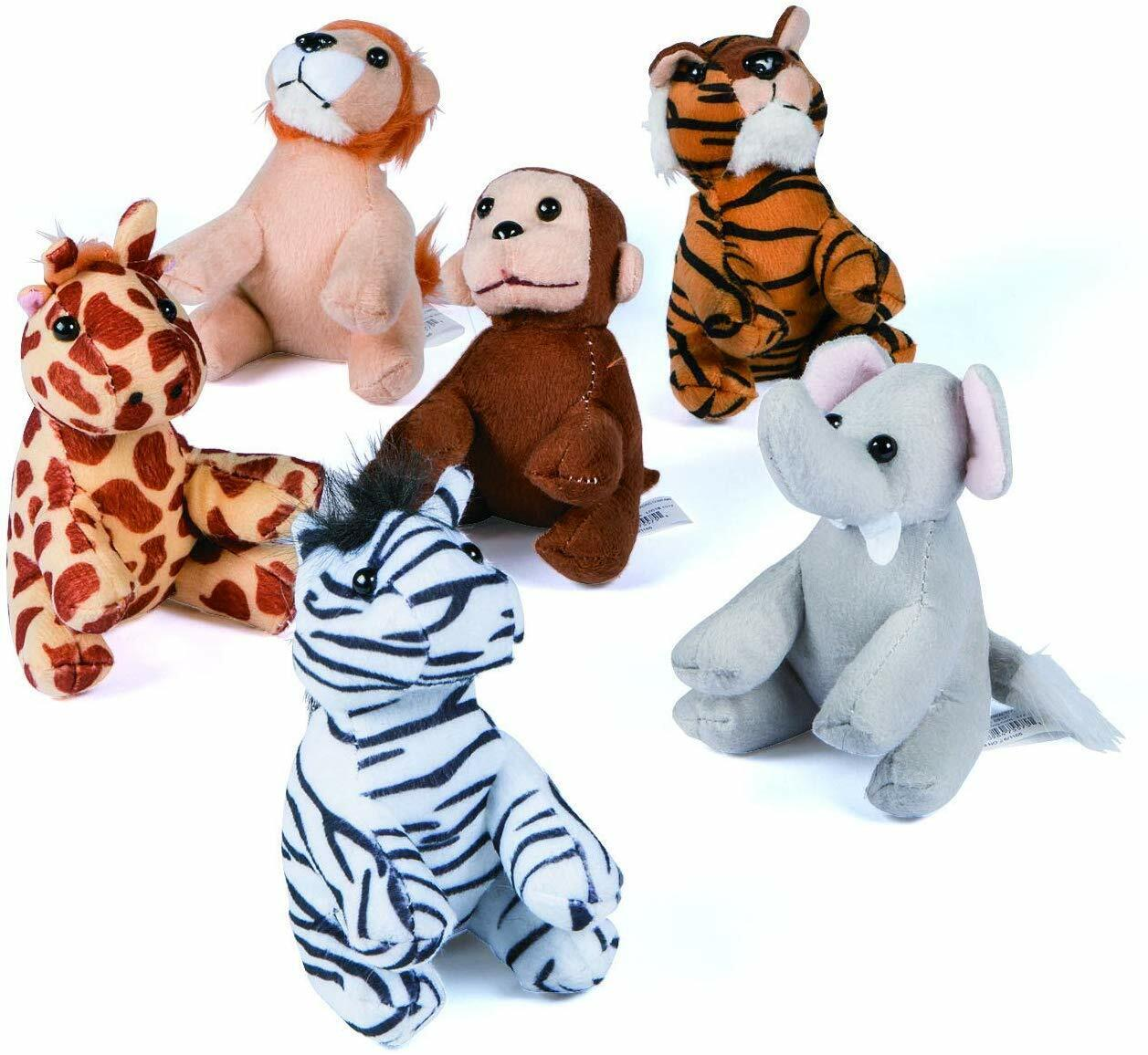 Fun Express Assortment Suede Jungle Animal