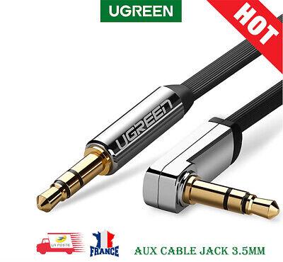 Câble AUX audio Jack à Jack de 3,5 mm à 90 degrés...