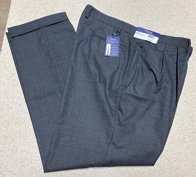 Ralph Lauren Comfort Flex Pleated Front Slacks Pants BLK Gray- Men's Size 40x32