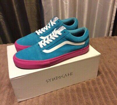 VANS Golf Wang Syndicate Old Skool Blue Pink size 10  - Pristine!
