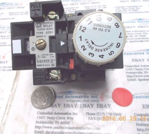 Square D XTD1 Timing Relay Class 8501