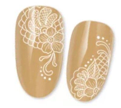 Nagelsticker Nail Sticker Tattoo Fingernagel Aufkleber Weiß