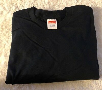 Supreme Blank Tee Navy Size Large Short Sleeve