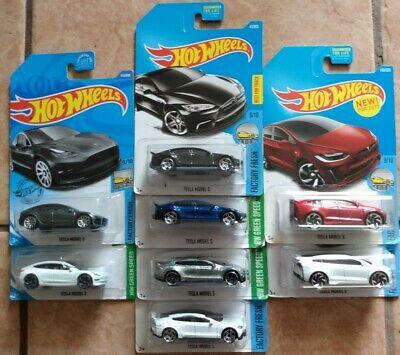 Hot Wheels lot of 8 Tesla Vehicles w/ZAMAC, 3 MODEL S, 2 Model X, 2 Model 3!!!