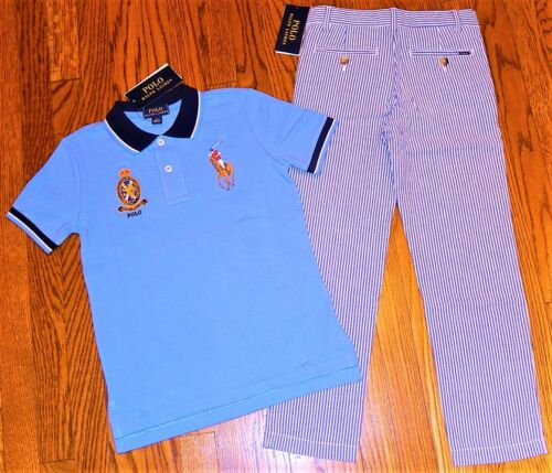 POLO RALPH LAUREN AUTHENTIC TODDLERS BOYS BRAND NEW ORIGINAL 2Pc SET Size 6, NWT