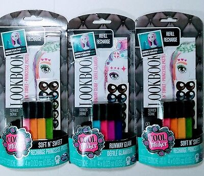 New Cool Maker Airbrush Hair & Makeup Refill 3 Packs Soft 'N Sweet Set 8 Colors (Coole Make Up Kostüme)