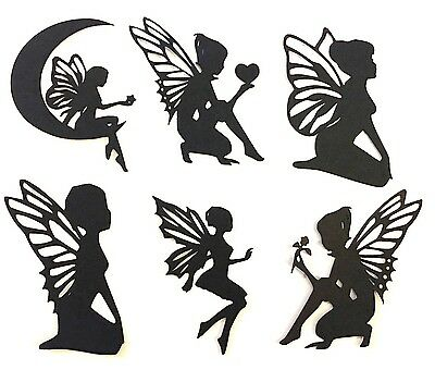 "12 MIXED 3"" FAIRY  DIE CUTS / EMBELLISHMENT PAPER PIECING paper crafts & more"