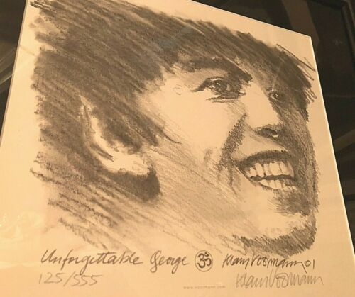 Klaus Voormann George Harrison Unforgettable Lithograph Signed Limited 125/555