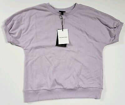 Who What Wear Women's Sweater Purple Short Sleeve Orchid Petal Sizes M to XL